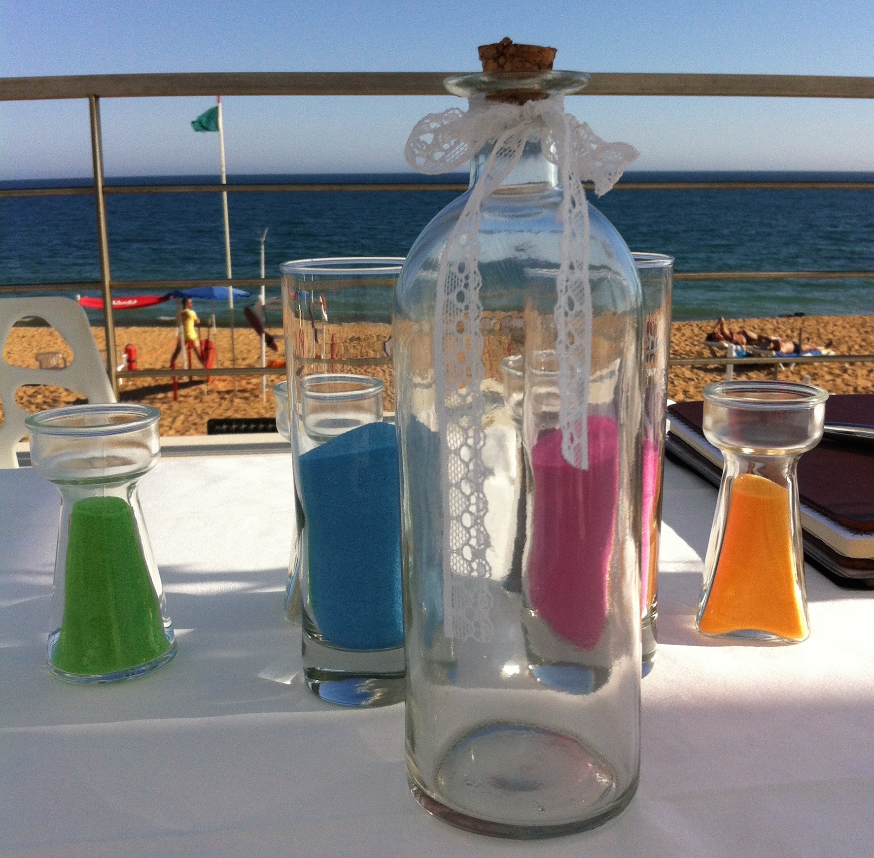 Unity ideas madeira weddings for the sand ceremony you have one main container or glass vase and at least two other ones the outer containers are filled with sand which could be reviewsmspy
