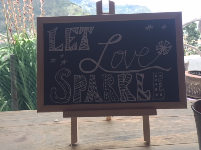 Let love sparkle sign